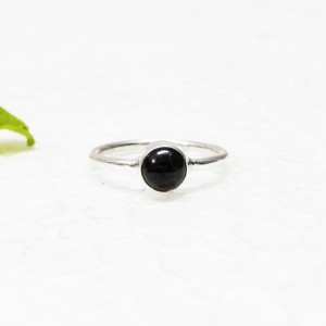 Genuine NATURAL BLACK TOURMALINE Gemstone Ring, Birthstone Ring, 925 Sterling Silver Ring, Fashion Handmade Ring, All Ring Size, Gift Ring