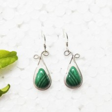 Beautiful NATURAL MALACHITE Gemstone Earrings, Birthstone Earrings, 925 Sterling Silver Earrings, Fashion Handmade Earrings, Dangle Earrings, Gift Earrings