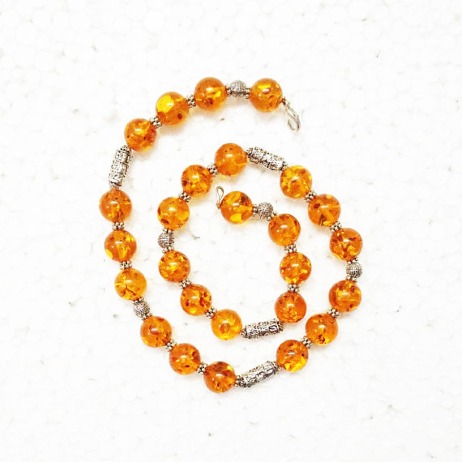 Awesome BALTIC AMBER Gemstone Necklace, Birthstone Necklace, Fashion Handmade Necklace, Wedding Necklace, Birthday Necklace, Adjustable Size, Gift Necklace