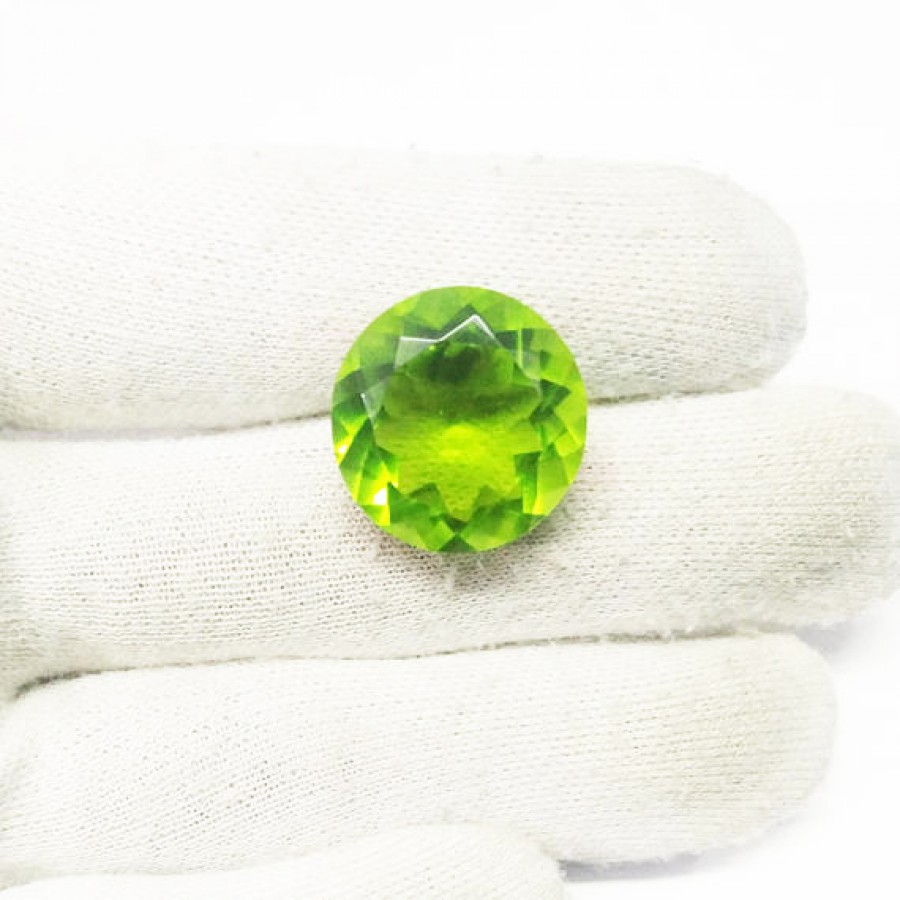 Amazing GREEN PERIDOT Gemstone, AAA Quality Faceted Gemstone, Size 20x20x12 mm Round & 23.70 ct Weight Per Piece, Green Gemstone, Loose Gemstones
