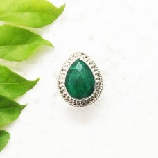 Gorgeous NATURAL INDIAN EMERALD Gemstone Ring, Birthstone Ring, 925 Sterling Silver Ring, Fashion Handmade Ring, All Ring Size, Gift Ring