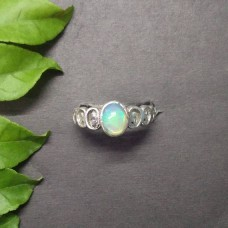 Beautiful NATURAL ETHIOPIAN OPAL Gemstone Ring, Birthstone Ring, 925 Sterling Silver Ring, Fashion Handmade Ring, All Ring Size, Gift Ring