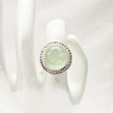 Gorgeous NATURAL PREHNITE Gemstone Ring, Birthstone Ring, 925 Sterling Silver Ring, Fashion Handmade Ring, All Ring Size, Gift Ring