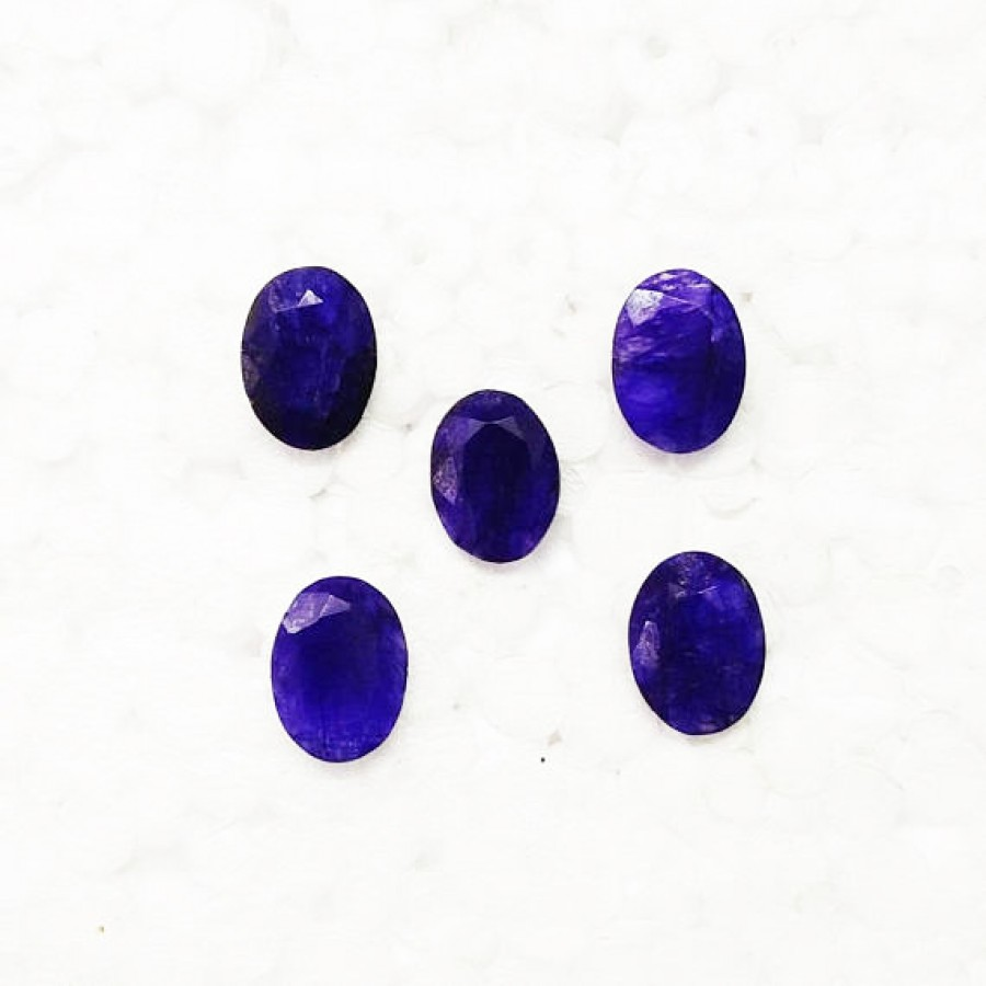 Attractive NATURAL INDIAN BLUE SAPPHIRE Gemstone, AAA Quality Faceted Gemstone, Size 14x10 mm Oval & 7.50 ct Weight Per Piece, Blue Gemstone, Loose Gemstones