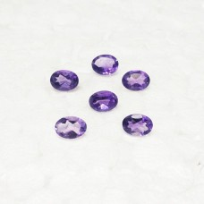 Amazing NATURAL PURPLE AMETHYST Gemstone, AAA Quality Faceted Gemstone, Size 6x4 mm Oval & 0.45 ct Weight Per Piece, Purple Gemstone, Loose Gemstones
