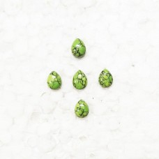 Amazing GREEN TURQUOISE Gemstone, AAA Quality Cabochon Gemstone, Size 9x7 mm Pear & 1.80 ct Weight Per Piece, Green Gemstone, Loose Gemstones
