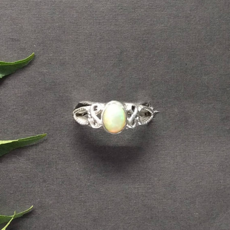 Attractive NATURAL ETHIOPIAN OPAL Gemstone Ring, Birthstone Ring, 925 Sterling Silver Ring, Fashion Handmade Ring, All Ring Size, Gift Ring