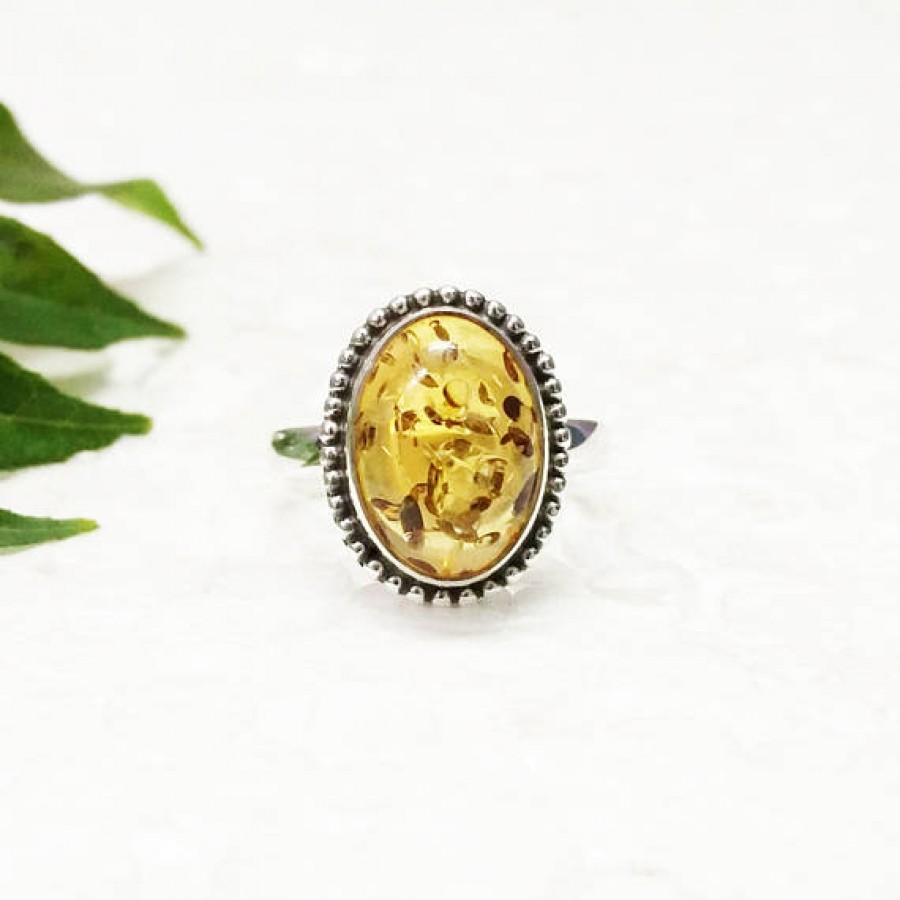 Gorgeous BALTIC AMBER Gemstone Ring, Birthstone Ring, 925 Sterling Silver Ring, Fashion Handmade Ring, All Ring Size, Gift Ring