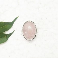 Beautiful NATURAL ROSE QUARTZ Gemstone Ring, Birthstone Ring, 925 Sterling Silver Ring, Fashion Handmade Ring, All Ring Size, Gift Ring