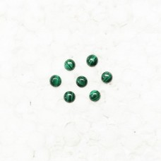 Beautiful NATURAL MALACHITE Gemstone, AAA Quality Cabochon Gemstone, Size 5x5 mm Round & 0.60 ct Weight Per Piece, Green Gemstone, Loose Gemstones