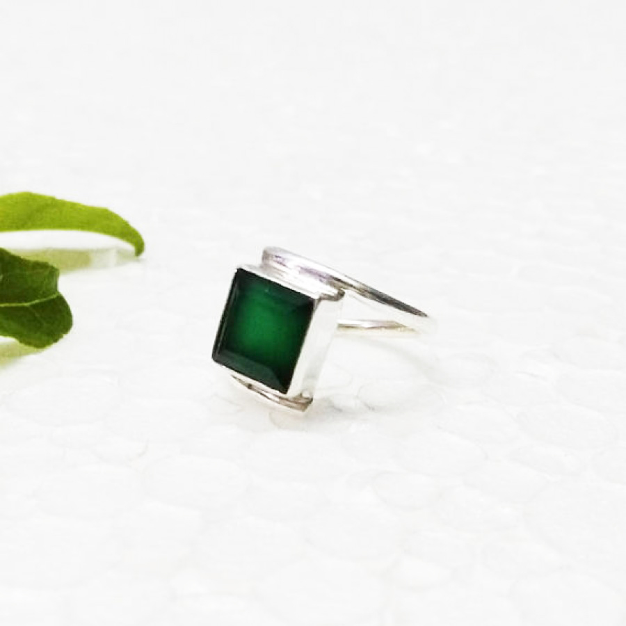 Attractive GREEN ONYX Gemstone Ring, Birthstone Ring, 925 Sterling Silver Ring, Fashion Handmade Ring, All Ring Size, Gift Ring