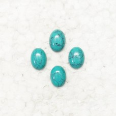 Awesome GREEN TURQUOISE Gemstone, AAA Quality Cabochon Gemstone, Size 16x12 mm Oval & 8.00 ct Weight Per Piece, Green Gemstone, Loose Gemstones