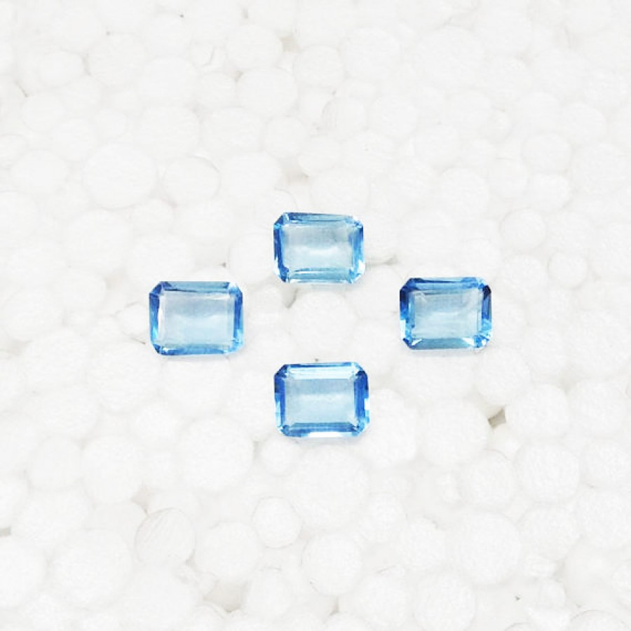 Beautiful SKY BLUE TOPAZ Gemstone, AAA Quality Faceted Gemstone, Size 10x8 mm Octagon & 2.60 ct Weight Per Piece, Blue Gemstone, Loose Gemstones