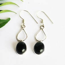 Attractive BLACK ONYX Gemstone Earrings, Birthstone Earrings, 925 Sterling Silver Earrings, Fashion Handmade Earrings, Dangle Earrings, Gift Earrings