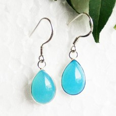 Awesome BLUE CHALCEDONY Gemstone Earrings, Birthstone Earrings, 925 Sterling Silver Earrings, Fashion Handmade Earrings, Dangle Earrings, Gift Earrings