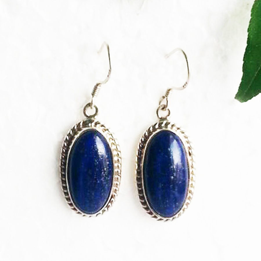 Beautiful NATURAL LAPIS LAZULI Gemstone Earrings, Birthstone Earrings, 925 Sterling Silver Earrings, Fashion Handmade Earrings, Dangle Earrings, Gift Earrings