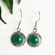 Attractive GREEN ONYX Gemstone Earrings, Birthstone Earrings, 925 Sterling Silver Earrings, Fashion Handmade Earrings, Dangle Earrings, Gift Earrings