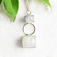 Awesome NATURAL BLUE FIRE RAINBOW MOONSTONE Gemstone Pendant, Birthstone Pendant, 925 Sterling Silver Pendant, Fashion Handmade Pendant, Free Chain, Gift Pendant