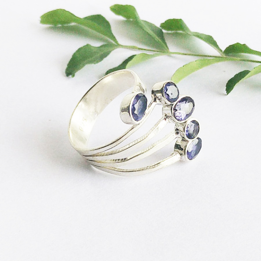 Attractive NATURAL IOLITE Gemstone Ring, Birthstone Ring, 925 Sterling Silver Ring, Fashion Handmade Ring, All Ring Size, Gift Ring