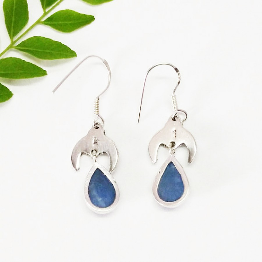 Beautiful NATURAL KYANITE Gemstone Earrings, Birthstone Earrings, 925 Sterling Silver Earrings, Fashion Handmade Earrings, Dangle Earrings, Gift Earrings