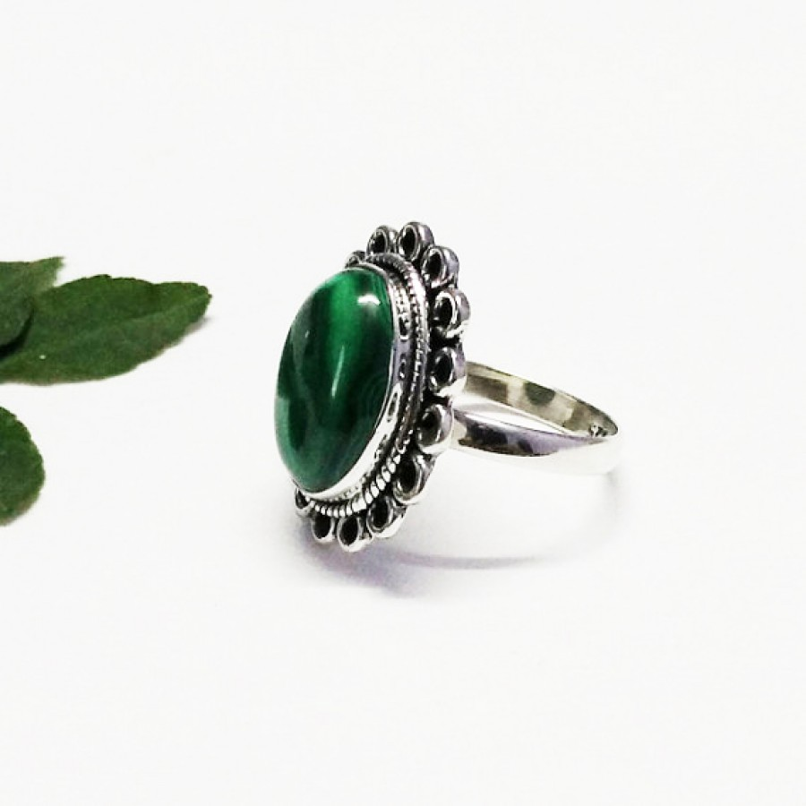 Attractive NATURAL MALACHITE Gemstone Ring, Birthstone Ring, 925 Sterling Silver Ring, Fashion Handmade Ring, All Ring Size, Gift Ring