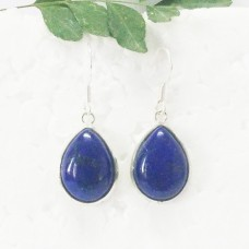 Amazing NATURAL LAPIS LAZULI Gemstone Earrings, Birthstone Earrings, 925 Sterling Silver Earrings, Fashion Handmade Earrings, Dangle Earrings, Gift Earrings