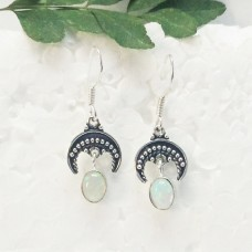 Exclusive NATURAL ETHIOPIAN OPAL Gemstone Earrings, Birthstone Earrings, 925 Sterling Silver Earrings, Healing Energy & Powers, Fashion Handmade Earrings, Dangle Earrings, Gift Earrings