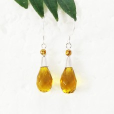 Beautiful YELLOW CITRINE Gemstone Earrings, Birthstone Earrings, 925 Sterling Silver Earrings, Fashion Handmade Earrings, Dangle Earrings, Gift Earrings