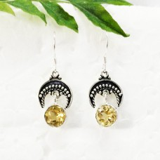 Attractive NATURAL CITRINE Gemstone Earrings, Birthstone Earrings, 925 Sterling Silver Earrings, Fashion Handmade Earrings, Dangle Earrings, Gift Earrings