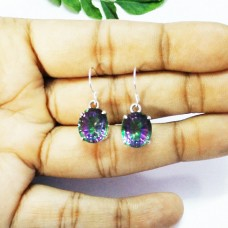 Attractive MIDNIGHT MYSTIC TOPAZ Gemstone Earrings, Birthstone Earrings, 925 Sterling Silver Earrings, Fashion Handmade Earrings, Dangle Earrings, Gift Earrings