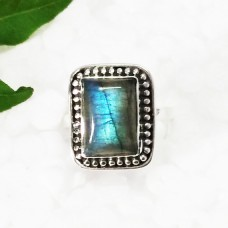 Gorgeous NATURAL BLUE FIRE LABRADORITE Gemstone Ring, Birthstone Ring, 925 Sterling Silver Ring, Artisan Handmade Ring, Fashion Ring, All Ring Size, Gift Ring