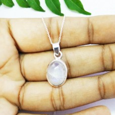 Amazing NATURAL BLUE FIRE RAINBOW MOONSTONE Gemstone Pendant, Birthstone Pendant, 925 Sterling Silver Pendant, Fashion Handmade Pendant, Free Chain, Gift Pendant