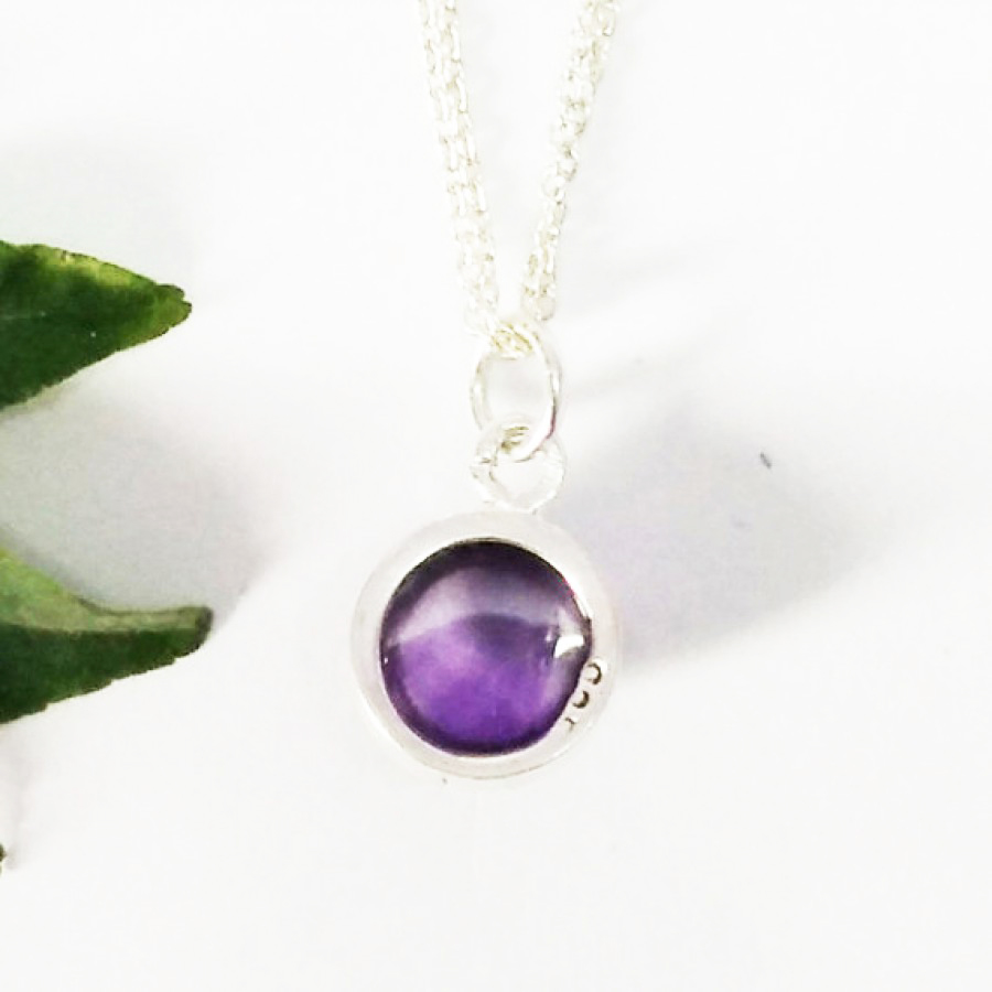 Genuine NATURAL PURPLE AMETHYST Gemstone Pendant, Birthstone Pendant, 925 Sterling Silver Pendant, Fashion Handmade Pendant, Free Chain, Gift Pendant