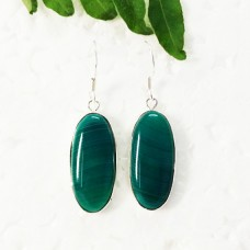 Attractive GREEN AGATE Gemstone Earrings, Birthstone Earrings, 925 Sterling Silver Earrings, Fashion Handmade Earrings, Dangle Earrings, Gift Earrings