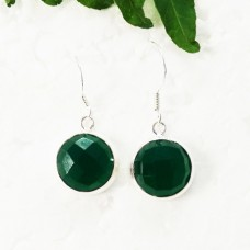 Gorgeous GREEN ONYX Gemstone Earrings, Birthstone Earrings, 925 Sterling Silver Earrings, Fashion Handmade Earrings, Dangle Earrings, Gift Earrings