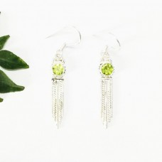 Gorgeous NATURAL PERIDOT Gemstone Earrings, Birthstone Earrings, 925 Sterling Silver Earrings, Fashion Handmade Earrings, Dangle Earrings, Gift Earrings