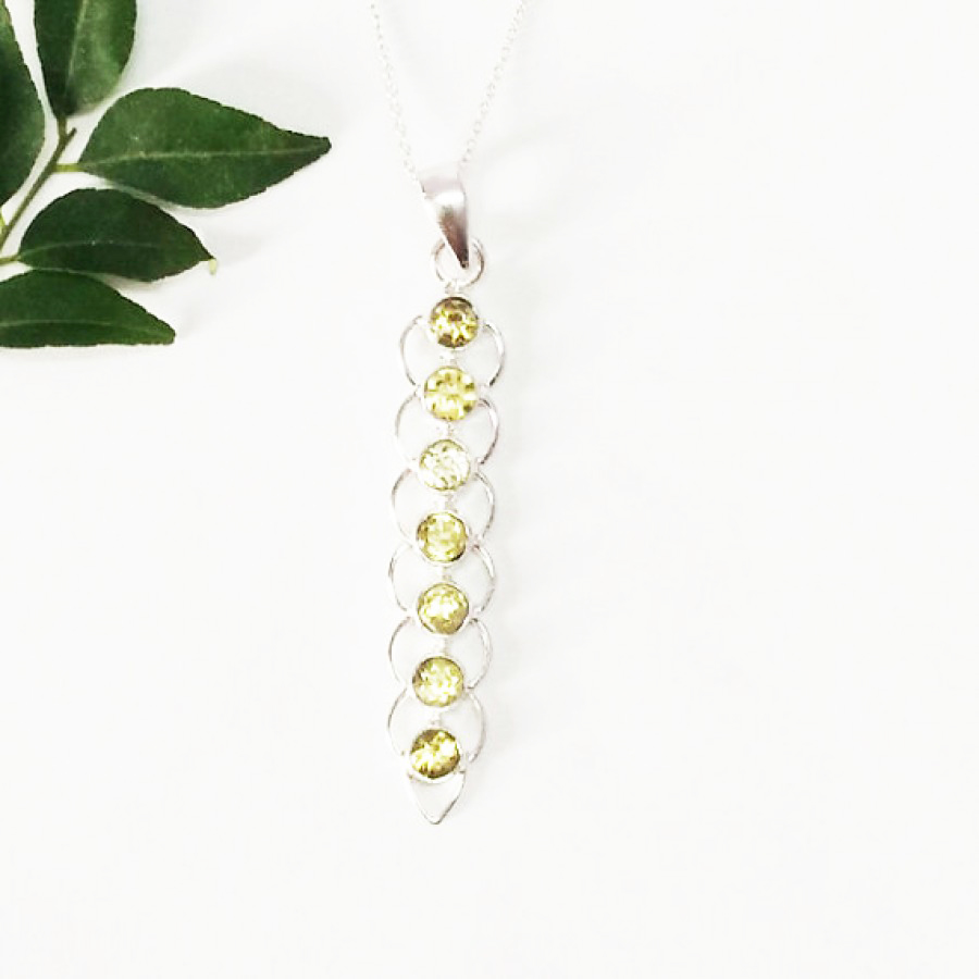 Beautiful NATURAL CITRINE Gemstone Pendant, Birthstone Pendant, 925 Sterling Silver Pendant, Fashion Handmade Pendant, Free Chain, Gift Pendant