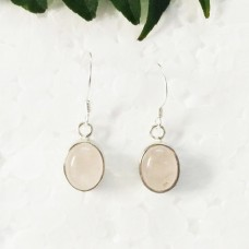 Attractive NATURAL ROSE QUARTZ Gemstone Earrings, Birthstone Earrings, 925 Sterling Silver Earrings, Fashion Handmade Earrings, Dangle Earrings, Gift Earrings