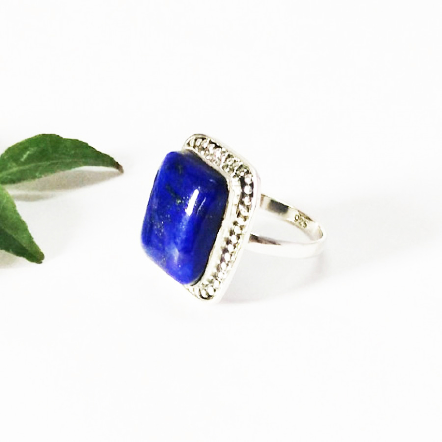 Beautiful NATURAL LAPIS LAZULI Gemstone Ring, Birthstone Ring, 925 Sterling Silver Ring, Fashion Handmade Ring, All Ring Size, Gift Ring
