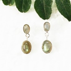 Gorgeous NATURAL FIRE LABRADORITE Gemstone Earrings, Birthstone Earrings, 925 Sterling Silver Earrings, Fashion Handmade Earrings, Drop Earrings, Gift Earrings
