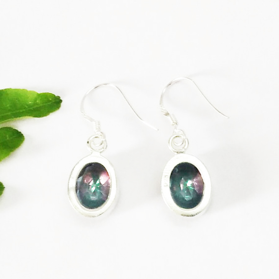 Beautiful MIDNIGHT MYSTIC TOPAZ Gemstone Earrings, Birthstone Earrings, 925 Sterling Silver Earrings, Fashion Handmade Earrings, Dangle Earrings, Gift Earrings