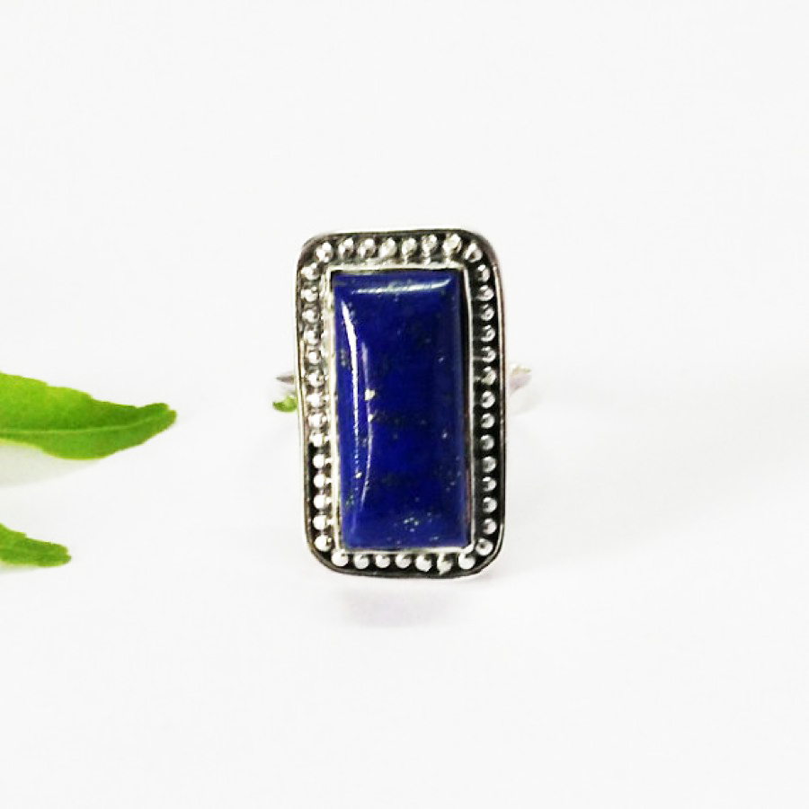 Attractive NATURAL LAPIS LAZULI Gemstone Ring, Birthstone Ring, 925 Sterling Silver Ring, Fashion Handmade Ring, All Ring Size, Gift Ring