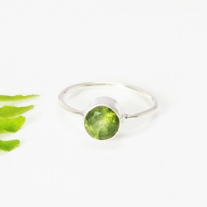 Gorgeous GREEN PERIDOT Gemstone Ring, Birthstone Ring, 925 Sterling Silver Ring, Fashion Handmade Ring, All Size, Gift Ring