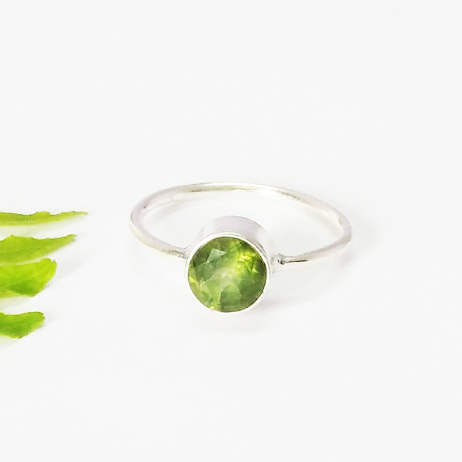 Gorgeous GREEN PERIDOT Gemstone Ring, Birthstone Ring, 925 Sterling Silver Ring, Fashion Handmade Ring, All Ring Size, Gift Ring