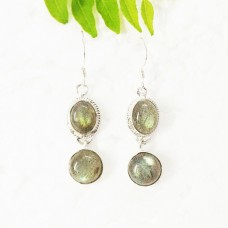 Attractive NATURAL FIRE LABRADORITE Gemstone Earrings, Birthstone Earrings, 925 Sterling Silver Earrings, Fashion Handmade Earrings, Dangle Earrings, Gift Earrings