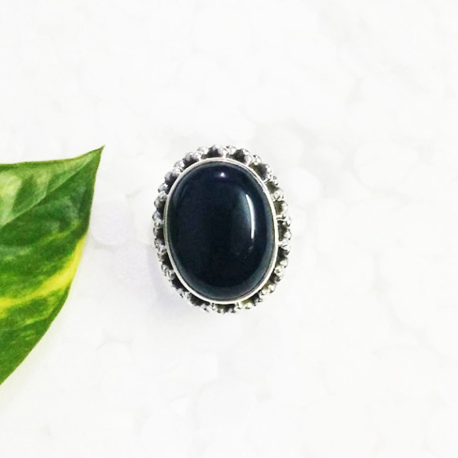 Gorgeous BLACK ONYX Gemstone Ring, Birthstone Ring, 925 Sterling Silver Ring, Fashion Handmade Ring, All Ring Size, Gift Ring