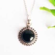 Beautiful BLACK ONYX Gemstone Pendant, Birthstone Pendant, 925 Sterling Silver Pendant, Fashion Handmade Pendant, Free Chain, Gift Pendant