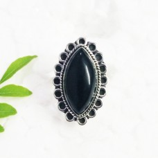 Beautiful BLACK ONYX Gemstone Ring, Birthstone Ring, 925 Sterling Silver Ring, Fashion Handmade Ring, All Ring Size, Gift Ring
