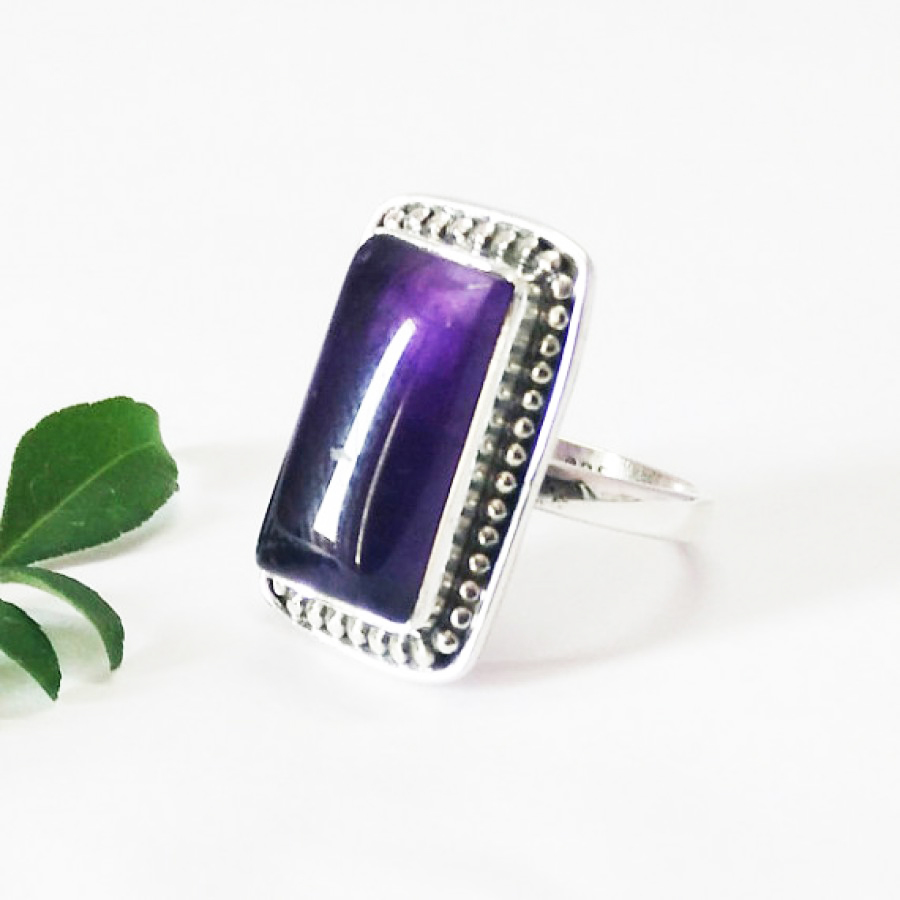 Beautiful NATURAL PURPLE AMETHYST Gemstone Ring, Birthstone Ring, 925 Sterling Silver Ring, Fashion Handmade Ring, All Ring Size, Gift Ring