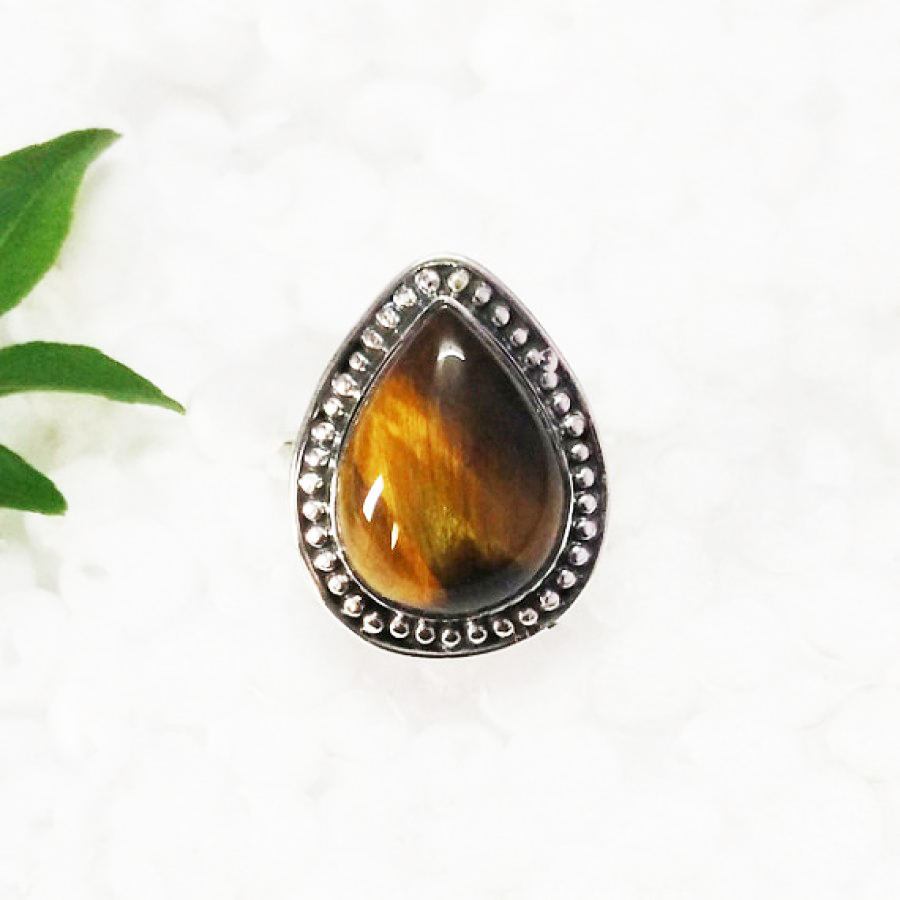 Beautiful NATURAL TIGER EYE Gemstone Ring, Birthstone Ring, 925 Sterling Silver Ring, Fashion Handmade Ring, All Ring Size, Gift Ring